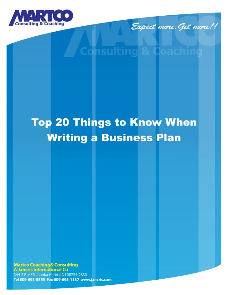 things that go in a business plan