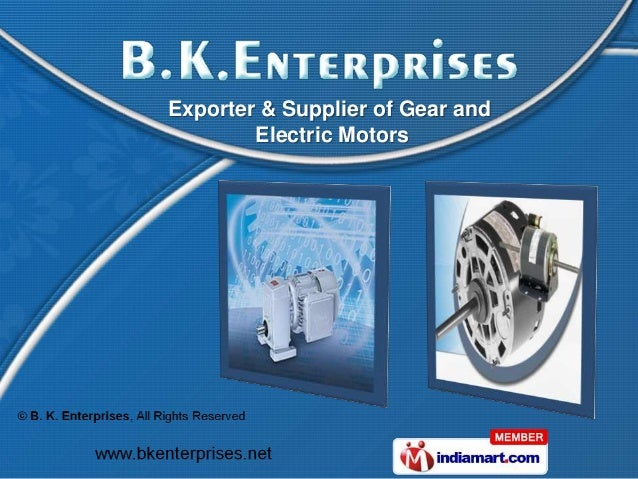 Exporter & Supplier of Gear and        Electric Motors
