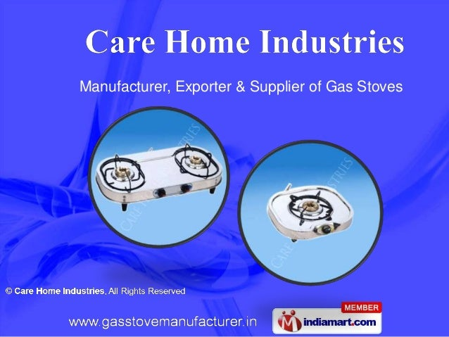 Manufacturer, Exporter & Supplier of Gas Stoves