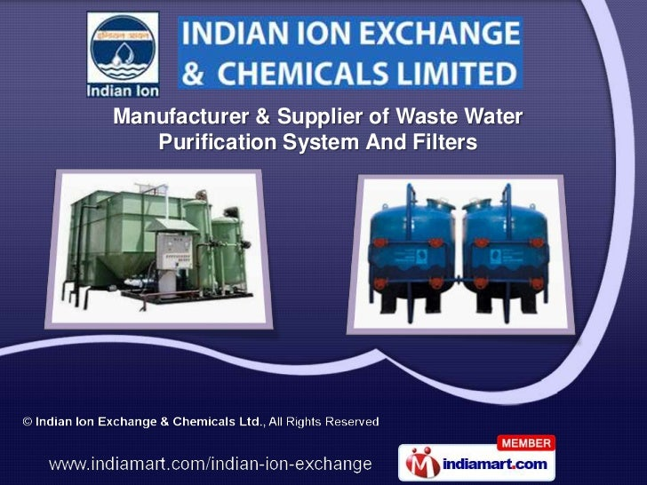 Manufacturer & Supplier of Waste Water   Purification System And Filters