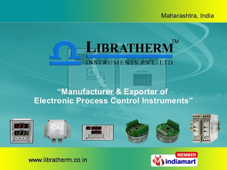 """"""" Manufacturer & Exporter of  Electronic Process Control Instruments"""""""