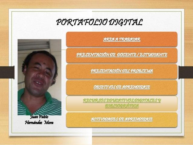 PORTAFOLIO DIGITAL Subtítulo RECURSOS EDUCATIVOS,DIGITALES Y BIBLIOGRÁFICA Juan Pablo Hernández Mora