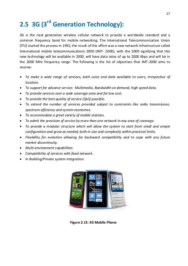 Help on dissertation 3g technology