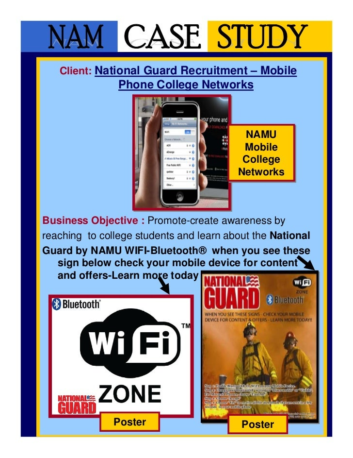 Client: National Guard Recruitment – Mobile                Phone College Networks                                         ...
