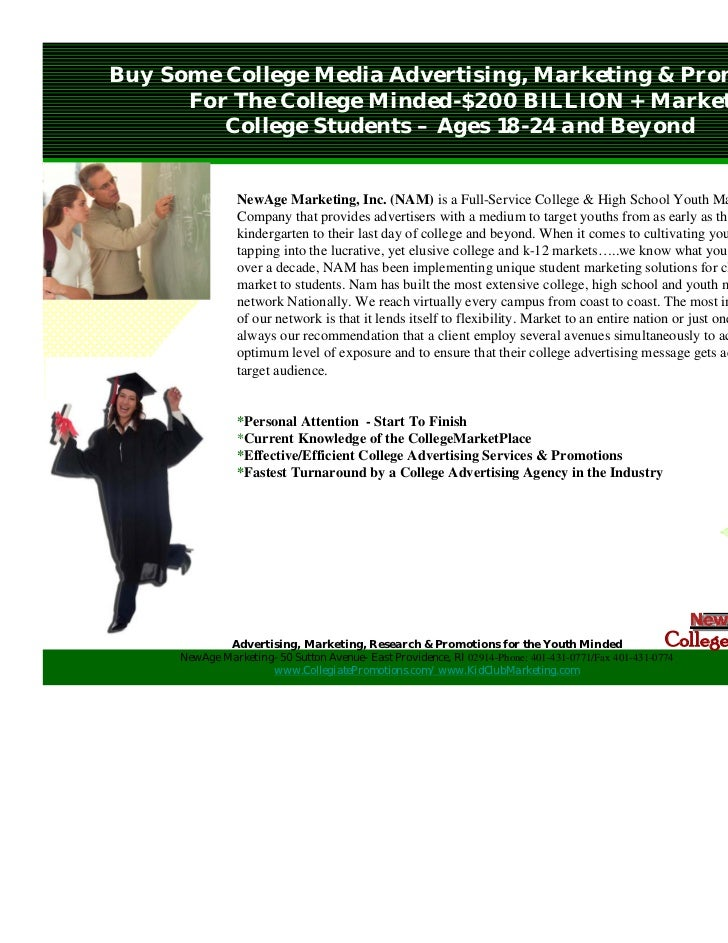 Buy Some College Media Advertising, Marketing & Promotions      For The College Minded-$200 BILLION + Market         Colle...
