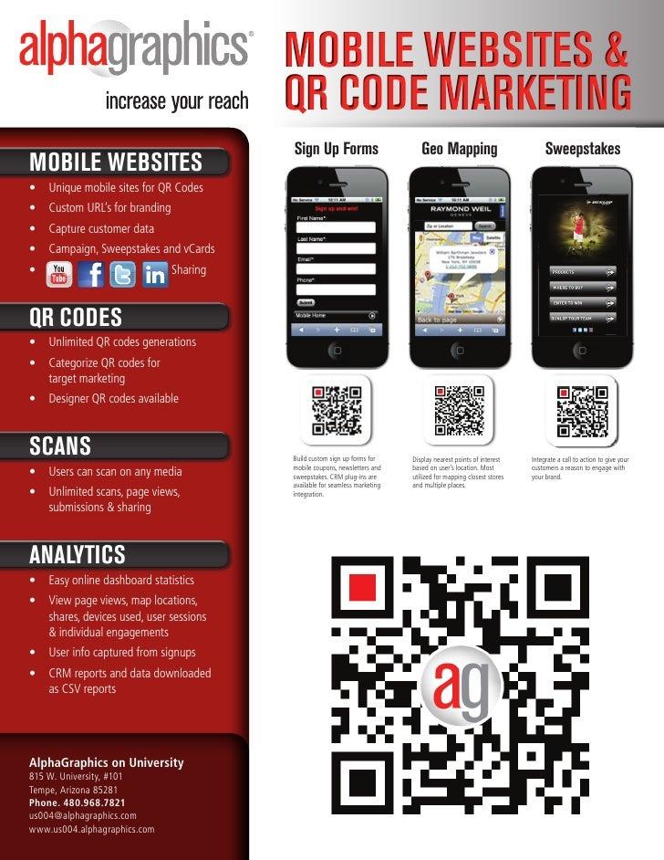 Mobile Websites &                                         QR Code MaRketing                                         sign U...