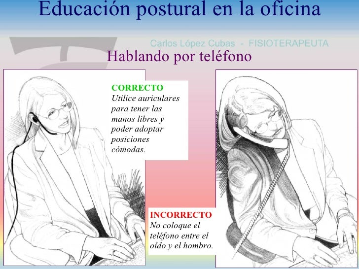 Higiene postural en la oficina for La oficina telefono