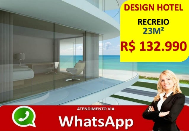 DESIGN HOTEL RECREIO 23M² R$ 132.990
