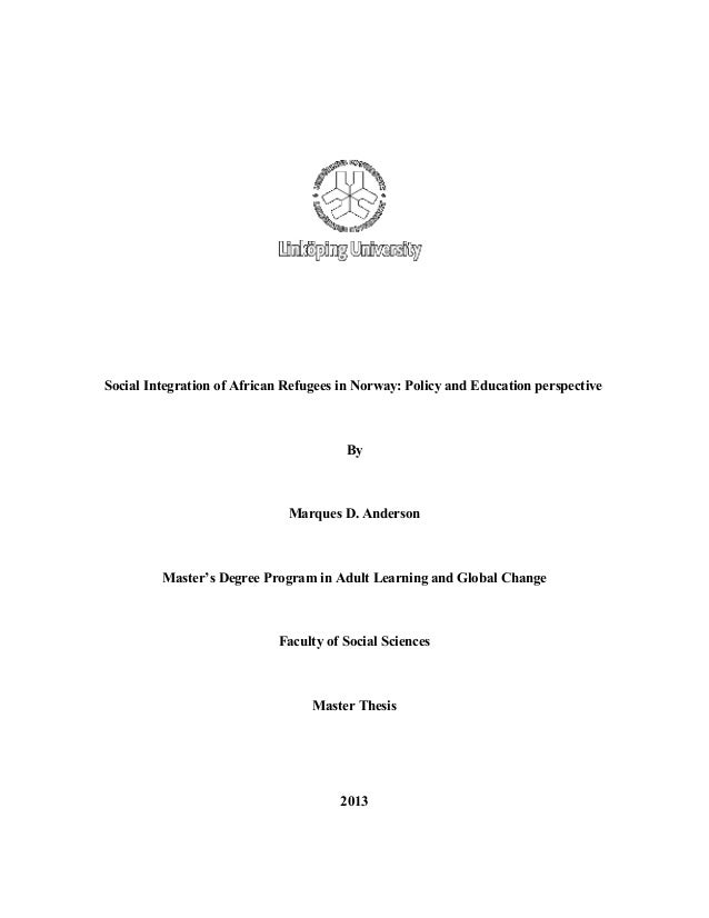 Final thesis on adult education
