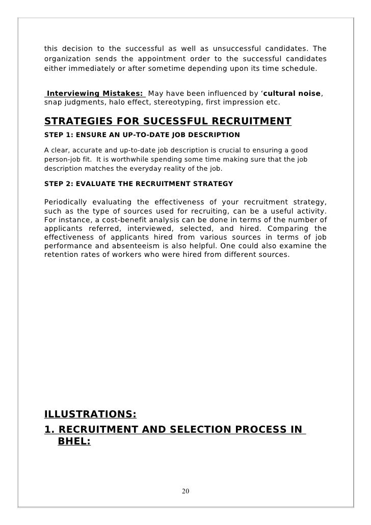 report on recruitment and selection 1a) describe a suitable recruitment and selection process for barrett's carvery the owners of barrett's carvery a traditional pub restaurant a.