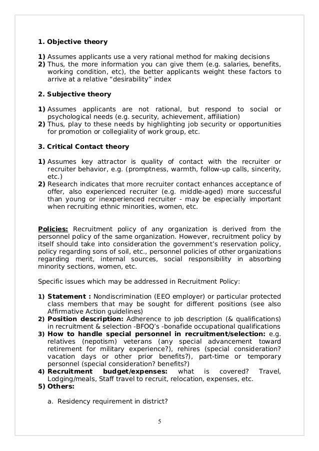 recruitment theory objective factor Psychometrics - origins, definitions, theory,  and the objective is to  techniques in this general tradition include factor analysis (finding.