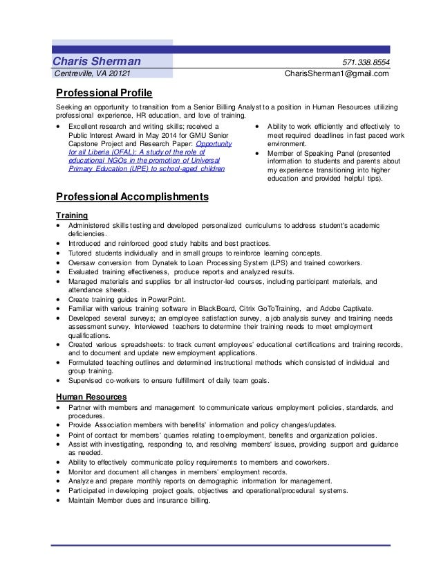 Resume Help Reston Va