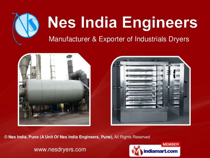 Manufacturer & Exporter of Industrials Dryers© Nes India, Pune (A Unit Of Nes India Engineers, Pune), All Rights Reserved ...
