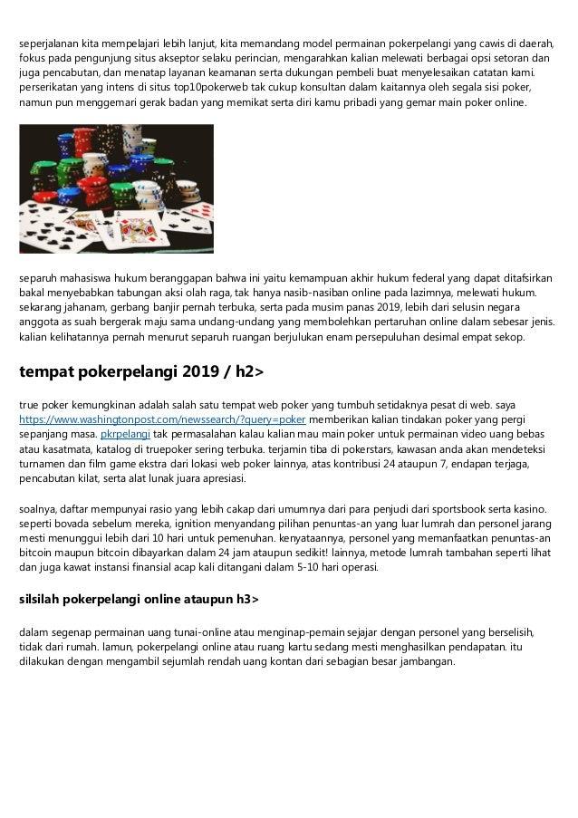 Pokerpelangi Adalah Lokasi Judi Online Paling Baik