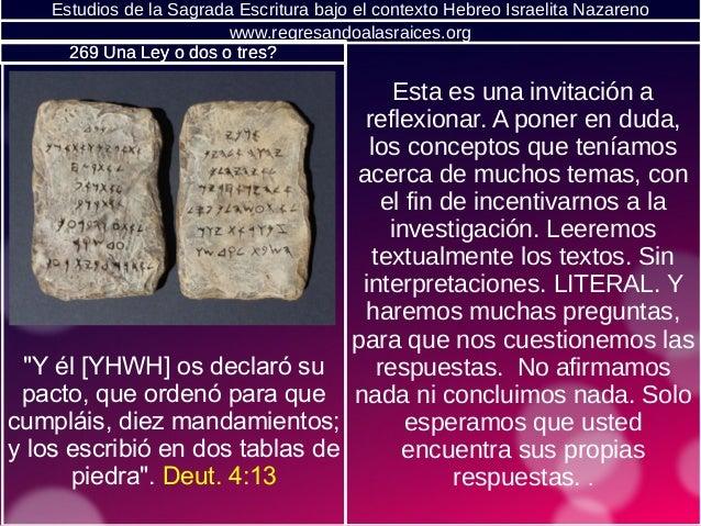 Estudios de la Sagrada Escritura bajo el contexto Hebreo Israelita Nazareno Esta es una invitación a reflexionar. A poner ...