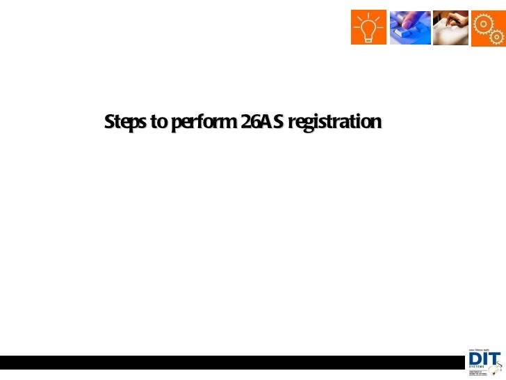 Steps to perform 26AS registration