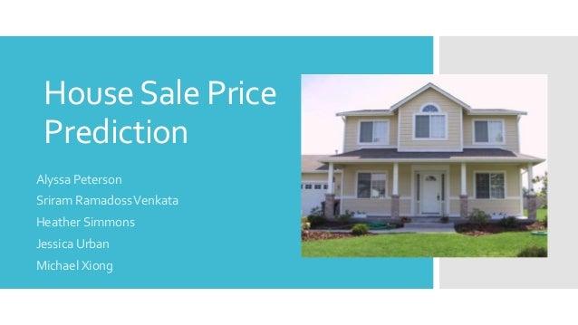 House Sale Price Prediction