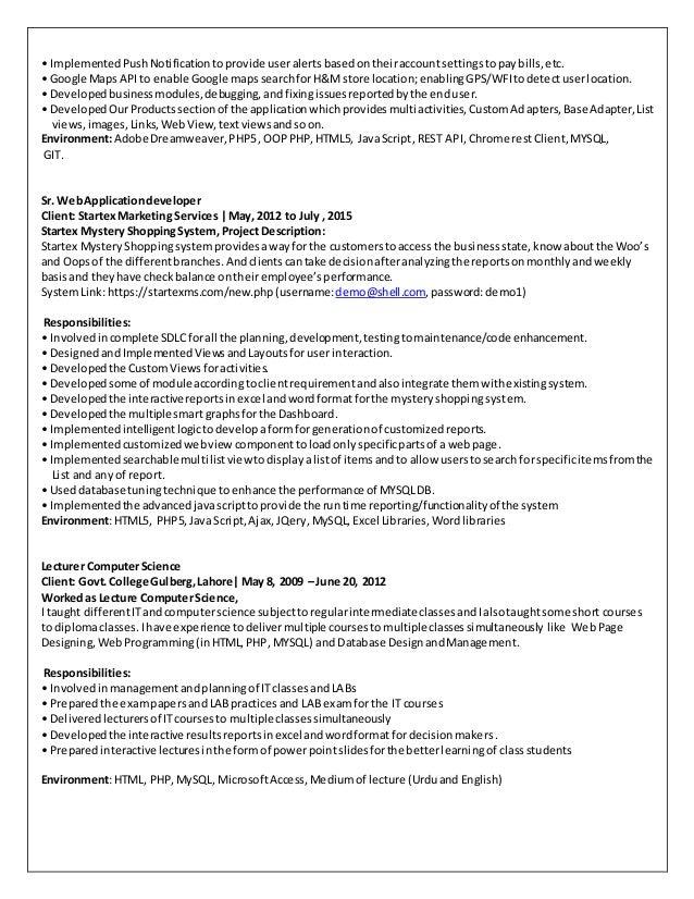 Adnan Javed Resume
