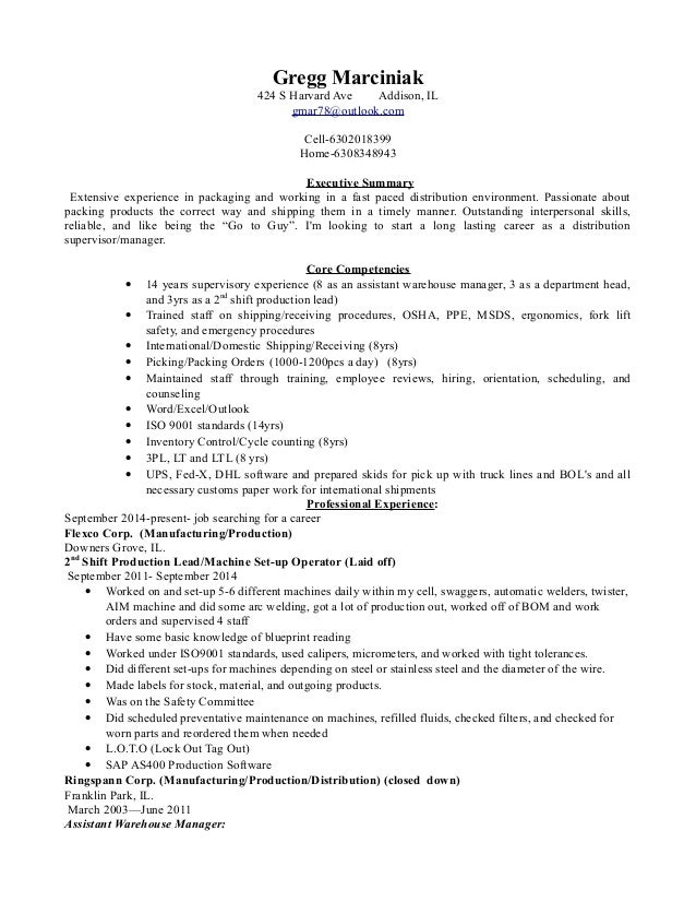Great Distribution Manager Resume