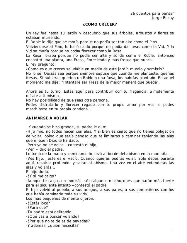 26 cuentos para pensar                                                                   Jorge Bucay                      ...