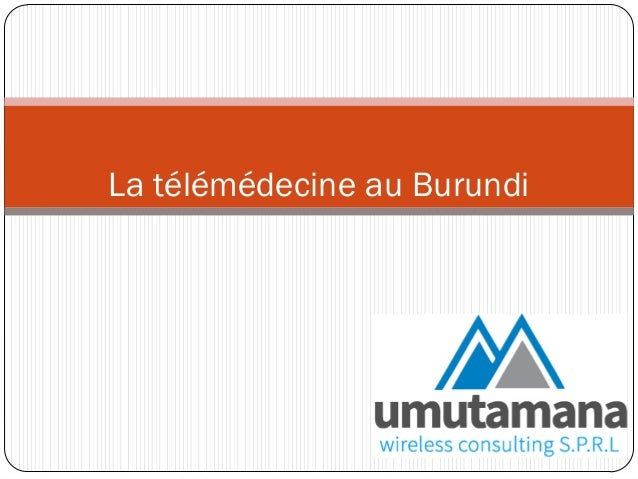 La télémédecine au Burundi