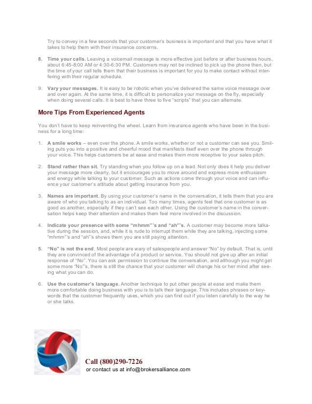 Brokers Alliance Sales Tips