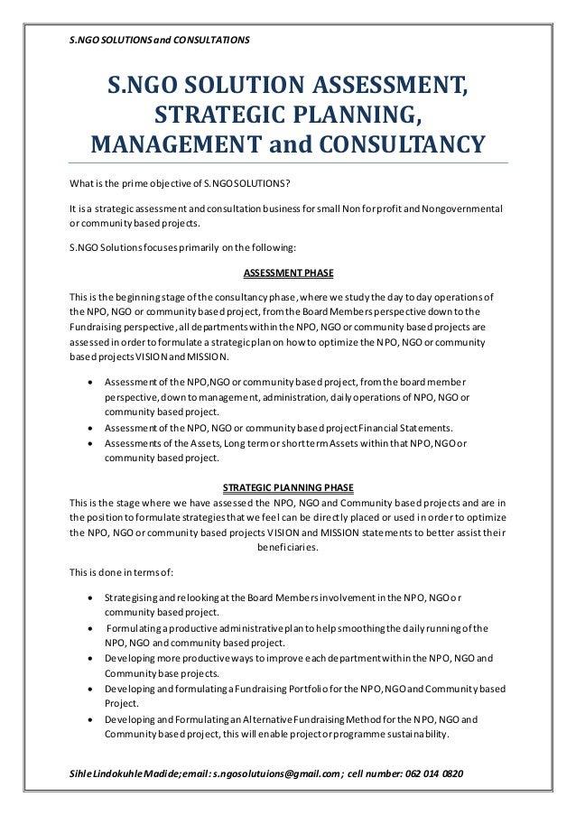 ngo business plan