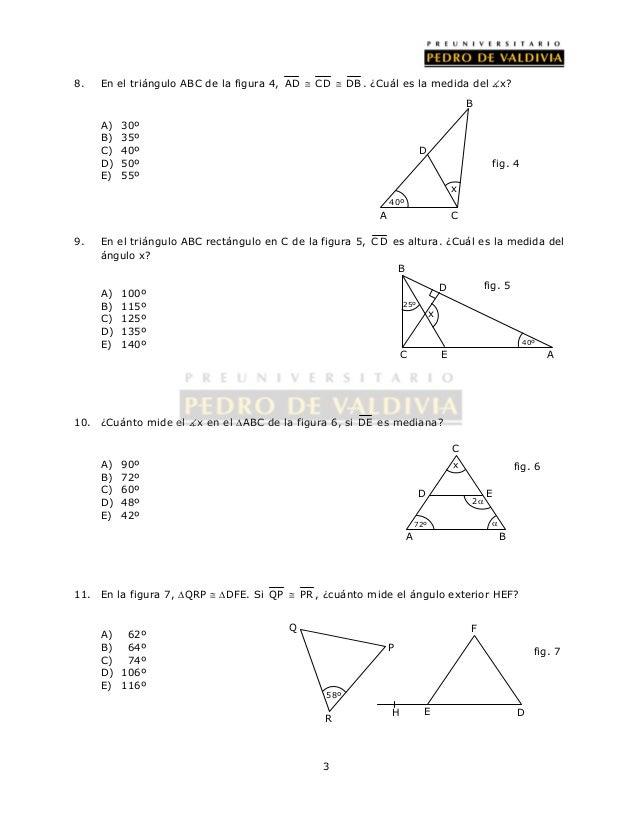 26 ejercicios congruencia de triángulos
