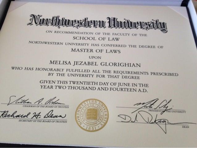 Glorighian Melisa  -Master of Laws Packet Northwestern