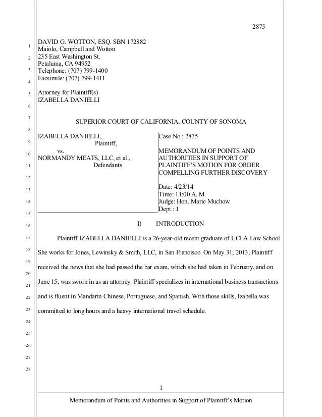 memo of points and authorities Plaintiff's motion and memorandum of points and authorities in support of its request for a preliminary injunction and request for scheduling conference.
