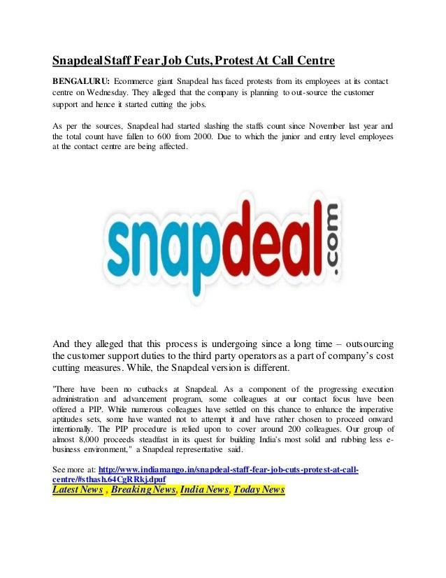 267341294ca SnapdealStaff Fear Job Cuts
