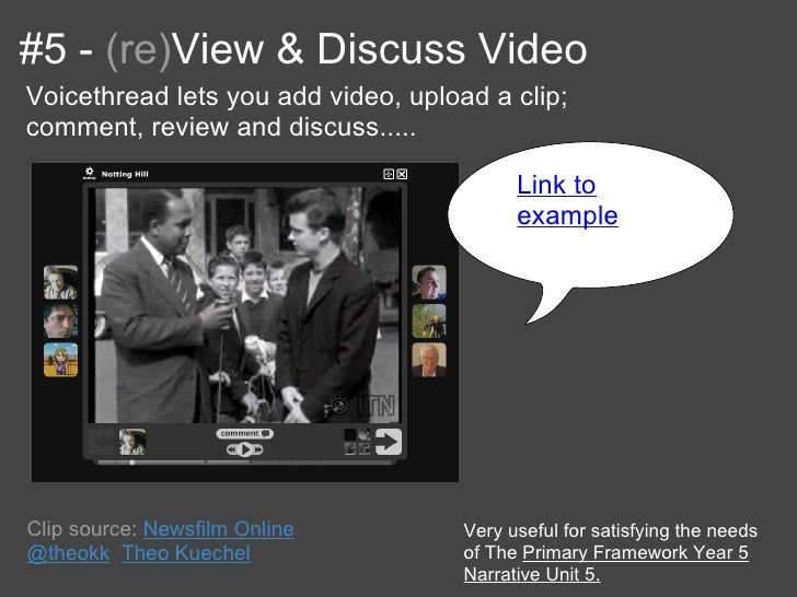 #5 - (re)View & Discuss VideoVoicethread lets you add video, upload a clip;comment, review and discuss.....               ...