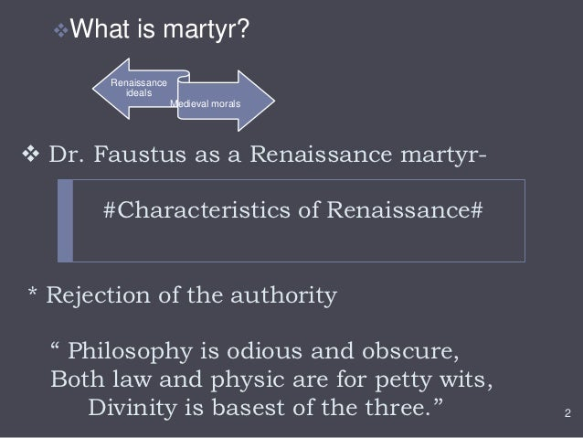 What elements mark Marlowe's Doctor Faustus as a typical Renaissance tragedy?