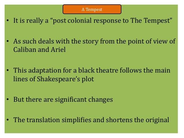 The tempest essay