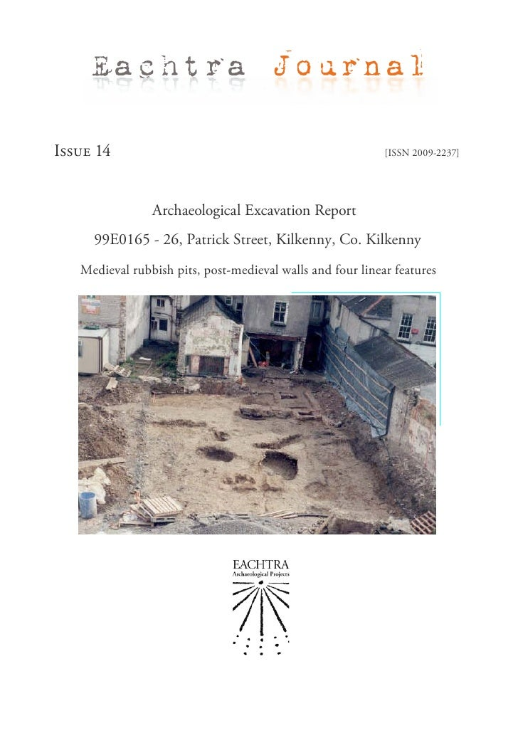 Eachtra JournalIssue 14                                                    [ISSN 2009-2237]                Archaeological ...