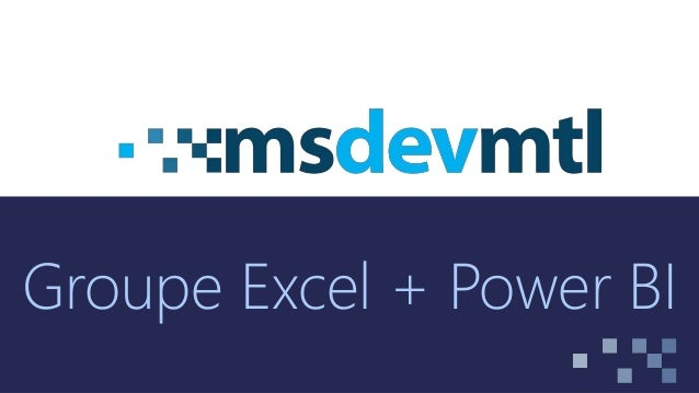 Groupe Excel + Power BI