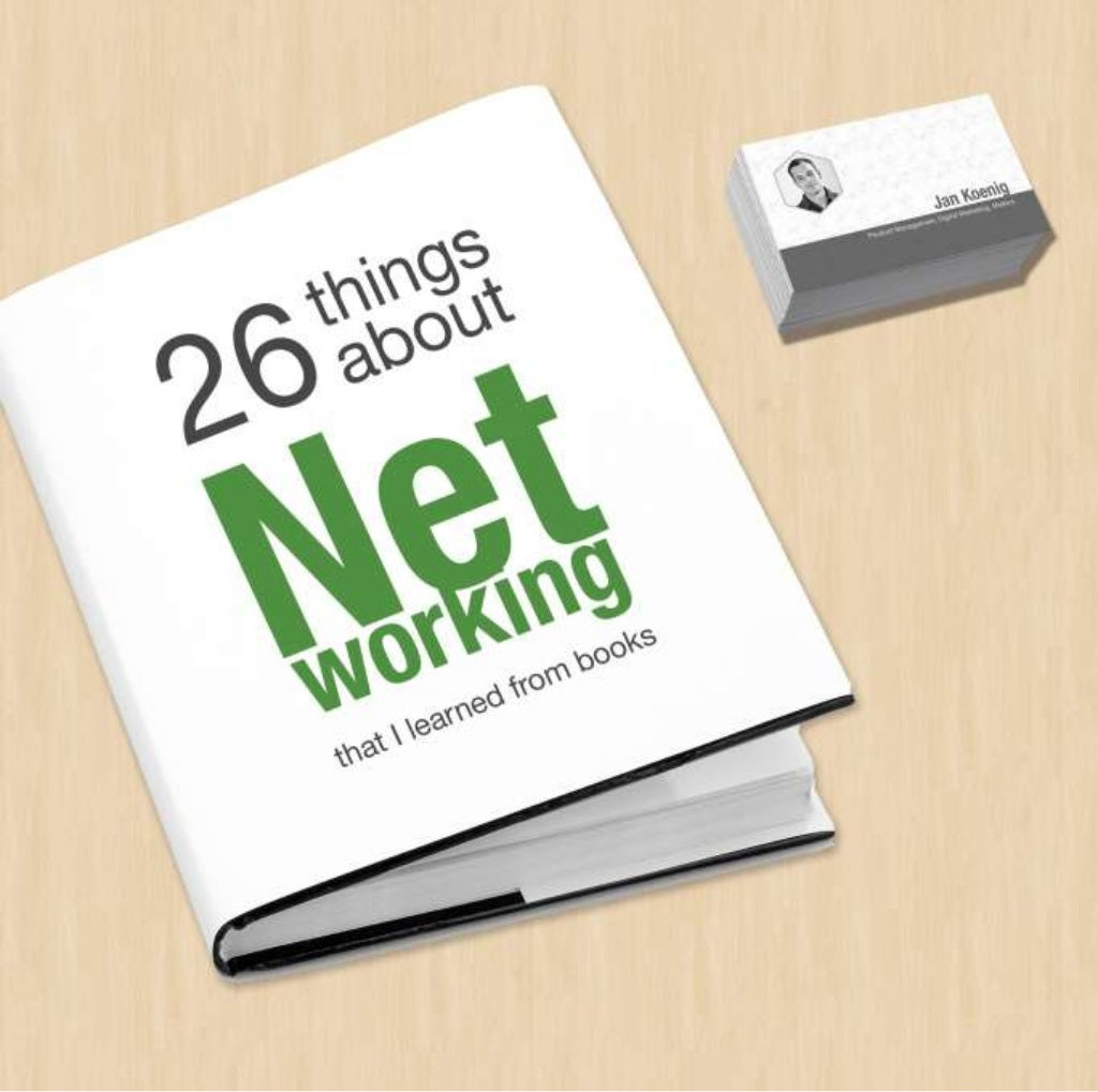 26 Things about Networking (that I learned from books)
