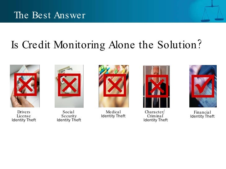 The Best Answer Drivers License  Identity Theft Medical  Identity Theft Financial  Identity Theft Social  Security  Identi...