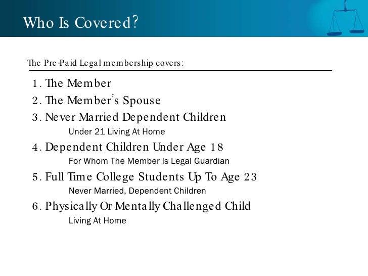 <ul><li>1. The Member </li></ul><ul><li>2. The Member's Spouse </li></ul><ul><li>3. Never Married Dependent Children </li>...