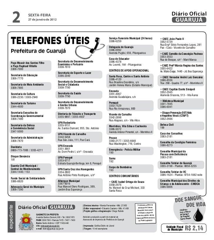 Diário Oficial de Guarujá - 27-01-12 Slide 2