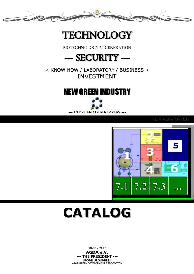 TECHNOLOGYTECHNOLOGY BIOTECHNOLOGY 3BIOTECHNOLOGY 3rdrd GENERATIONGENERATION --- SECURITY ------ SECURITY --- < KNOW HOW /...