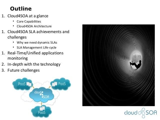 Outline1. Cloud4SOA at a glance• Core Capabilities• Cloud4SOA Architecture1. Cloud4SOA SLA achievements andchallenges• Why...