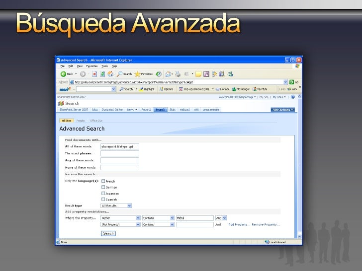SharePoint Server 2007 Feature Areas Mejora en la Relevancia Experiencia de Usuario Mejorada Accesoaa Data Esctructurada &...