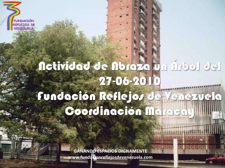 GANANDO ESPACIOS DIGNAMENTE<br />www.fundacionreflejosdevenezuela.com<br />