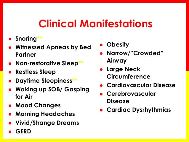 Obstructive Sleep Apnea Diagnostic Considerations