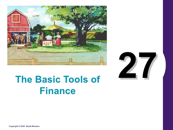 27 The Basic Tools of Finance