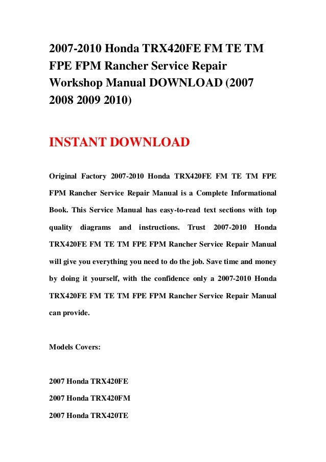 20072010 honda trx420fe fm te tm fpe fpm rancher service repair workshop manual download 2007 2008 2009 2010 1 638?cb\\\=1359532457 dse3110 wiring diagram gandul 45 77 79 119 on trailer hitch wiring dse3110 wiring diagram at mifinder.co