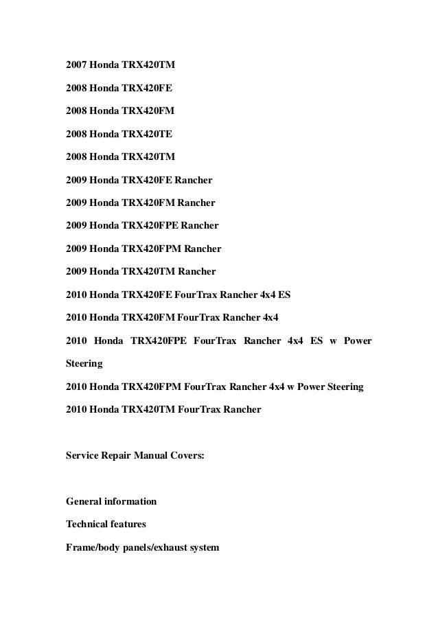 20072010 honda trx420fe fm te tm fpe fpm rancher service repair workshop manual download 2007 2008 2009 2010 2 638?cb=1359532457 2007 2010 honda trx420fe fm te tm fpe fpm rancher service repair work  at soozxer.org