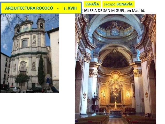 27 rococ y goya 2 de bachillerato for Arquitectura 20 madrid