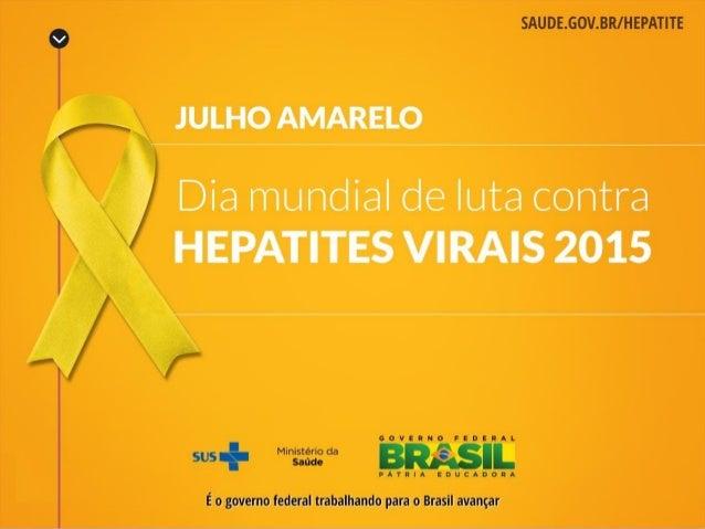 Panorama das Hepatites no Brasil Hepatite A Hepatite B Hepatite C